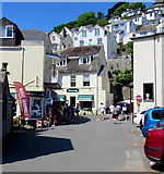 SX2553 : North along Church End, East Looe by Jaggery