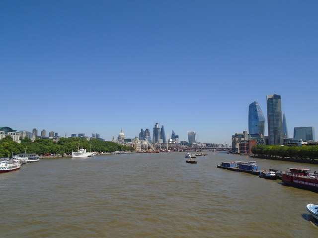 River Thames View From Waterloo Bridge C Paul Gillett Cc By