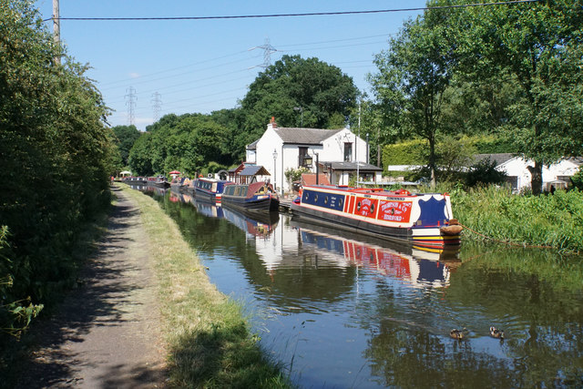Narrowboats at Hinksford