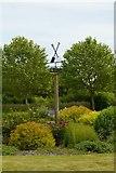 SE6656 : Windvane in the Peony & Daylily Garden, Breezy Knees Gardens by Rich Tea