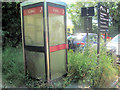SP9114 : Abandoned Telephone Box in the Startops End Car Park by Chris Reynolds
