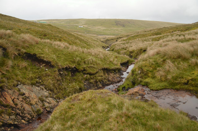 Confluence on the Red Burn, Shetland