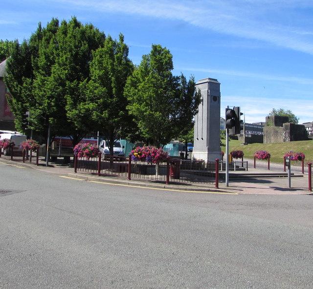 Grade II listed Caerphilly War Memorial