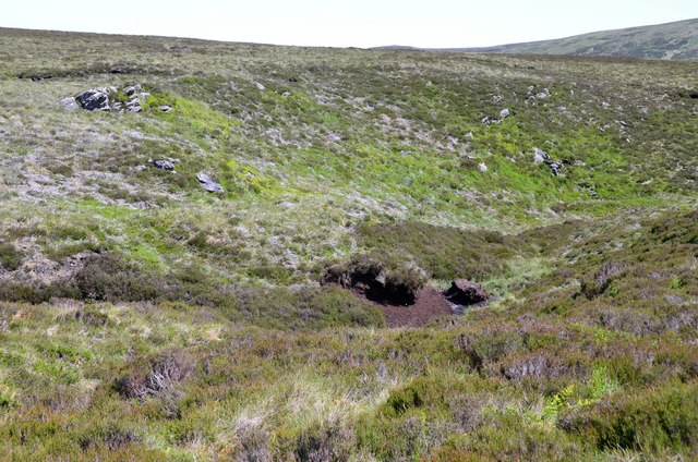 Head of a moorland cleuch below Craigengar
