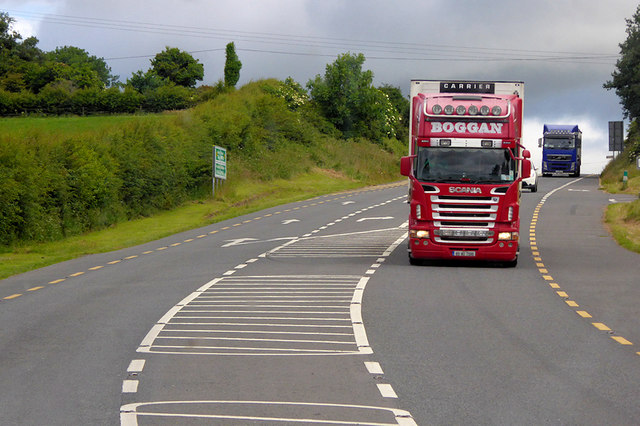 HGVs on the Hill near Dungarvan