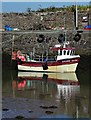 "NX4846 : ""Lainy Lass"" tied to the harbour wall in Garlieston : Week 27"