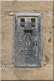 SE3320 : Flush Bracket Bench Mark, Wakefield Cathedral by Mark Anderson