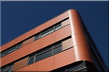 SE3221 : Red cladding, Harrison Building, Wakefield College by Mark Anderson