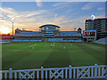 SK5838 : Trent Bridge: cricket at twilight by John Sutton
