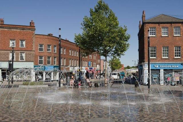 Fountain, Bull Ring, Wakefield