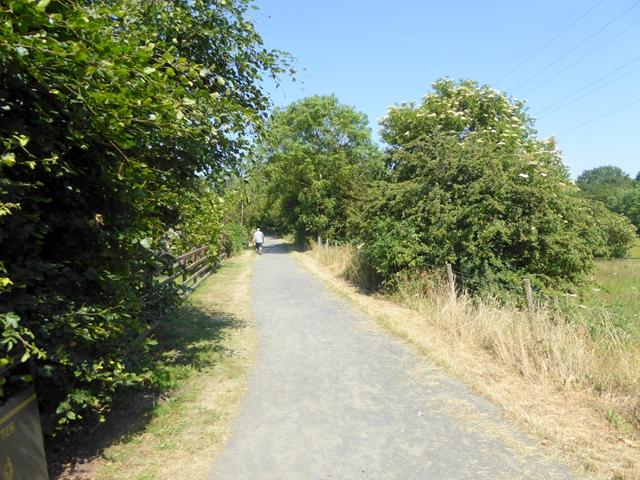 Railway path at Ramshaw