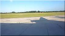 SJ8184 : Manchester Airport Taxiway T at Junction with Taxiway V by Richard Cooke
