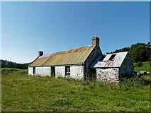 NH7076 : Coag - a primitive croft house by Julian Paren