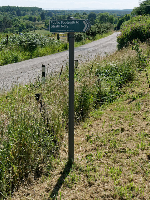 Scotways sign for Hill Track 320 Dalnaclach to Strathrory