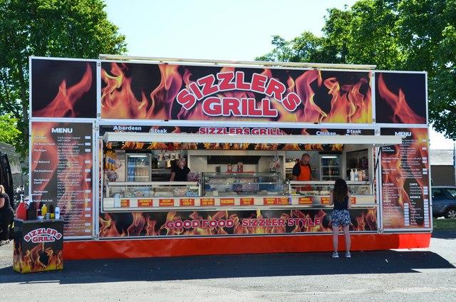 Burger stall, Newcastleton