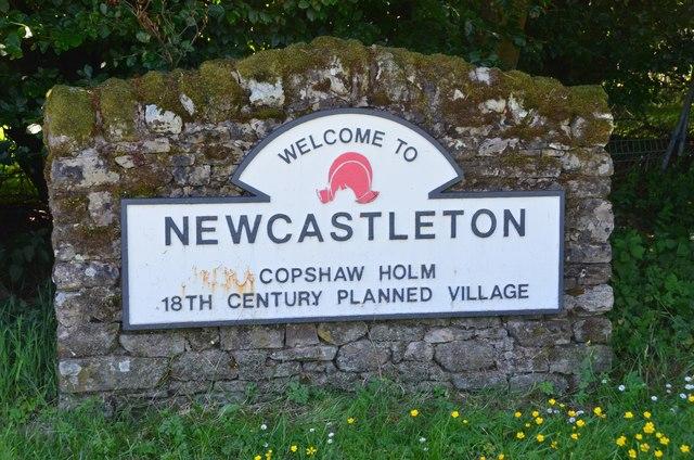 Newcastleton village sign
