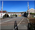 SN4500 : Barriers up at Church Road level crossing, Burry Port by Jaggery