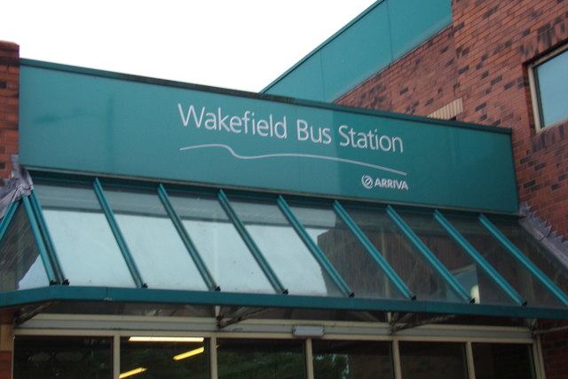 Wakefield Bus Station sign © Adrian Cable :: Geograph