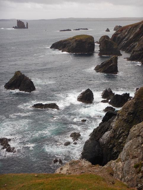Isle of Niddister and Windy Geo
