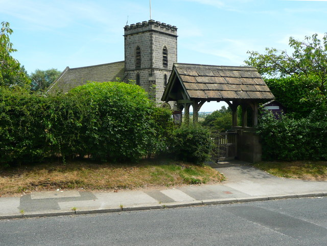 The lych gate, Church Hill, North Rigton