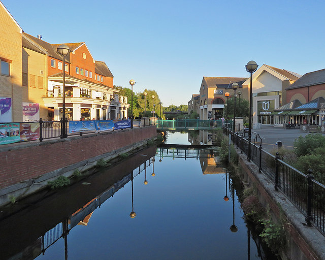 Chelmsford: the River Chelmer on a summer evening