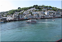 SX2553 : Glass Bottom boat in Looe Harbour by Jaggery