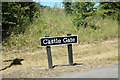 SE3525 : Castle Gate sign by Adrian Cable