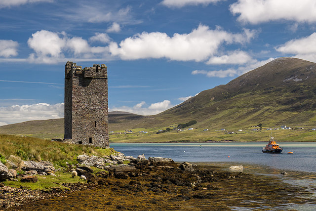 Castles of Connacht, Carrickildavnet, Achill Island, Mayo