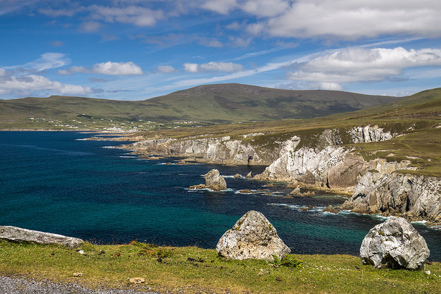 View of Ashleam Bay, Achill Island, Co. Mayo