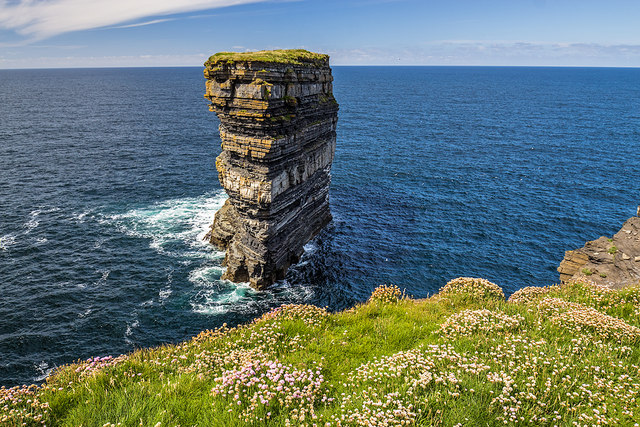 Dún Briste sea stack, Downpatrick Head, Co. Mayo (1)