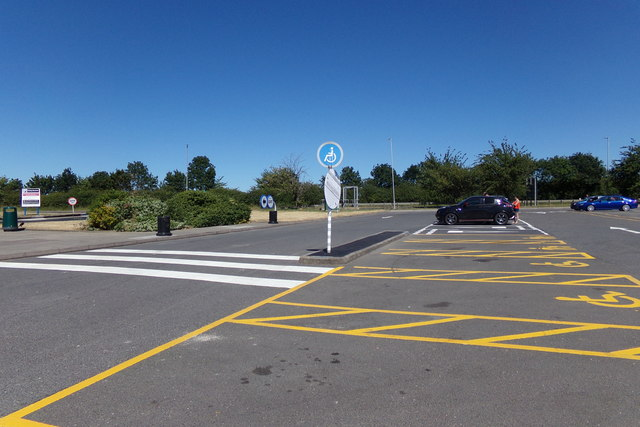 Car Park at Grantham North Services