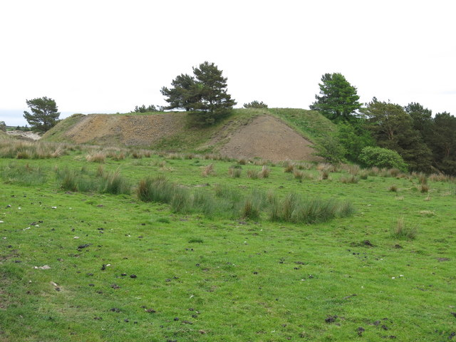 Old spoil heap at the Langley Barony Lead Mine