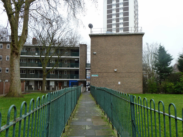Path, Wenlock Court, Shoreditch