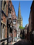 SE3320 : View along Bread Street to Wakefield Cathedral by Philip Halling