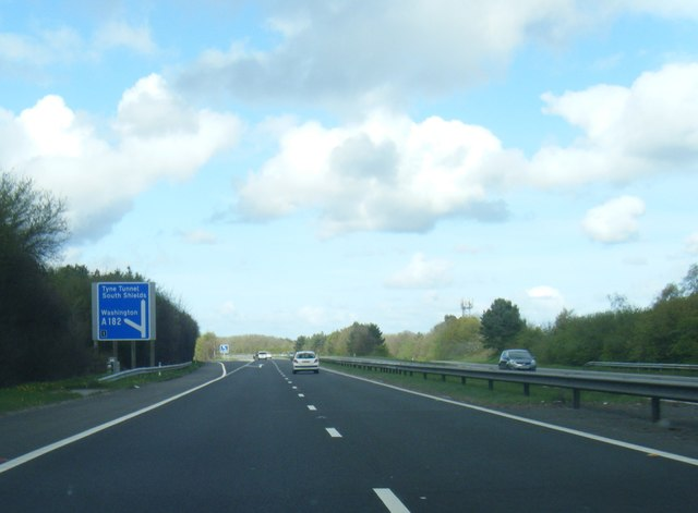A194(M) nears Junction 1