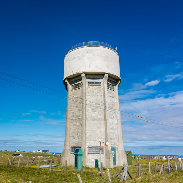 Water tower at Swainbost