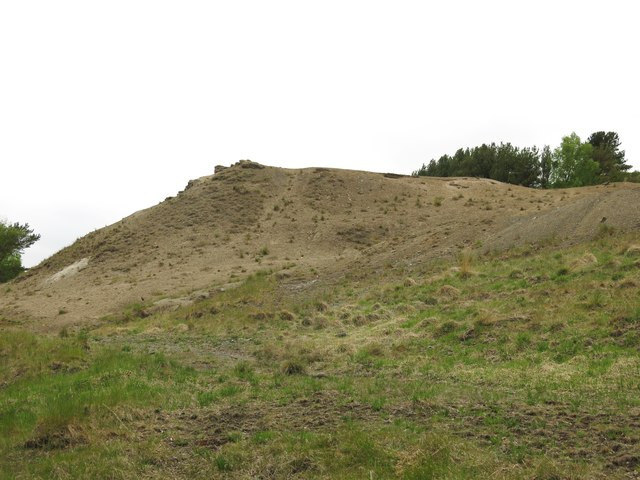 Langley Barony Lead Mine - spoil heap