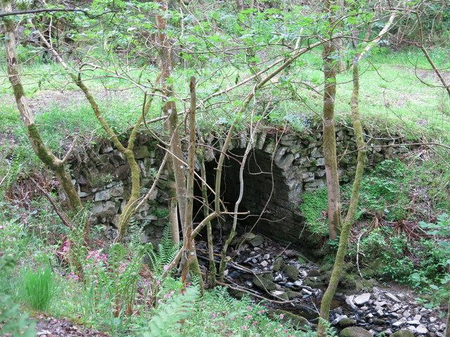Langley Barony Lead Mine - bridge over Honeycrook Burn