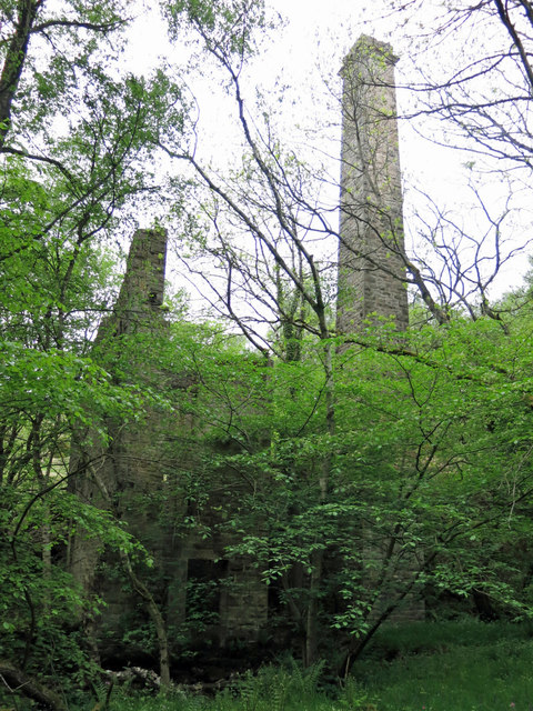 Langley Barony Lead Mine - engine and boiler house