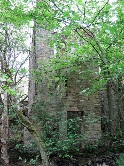 Langley Barony Lead Mine - engine and boiler house (2)