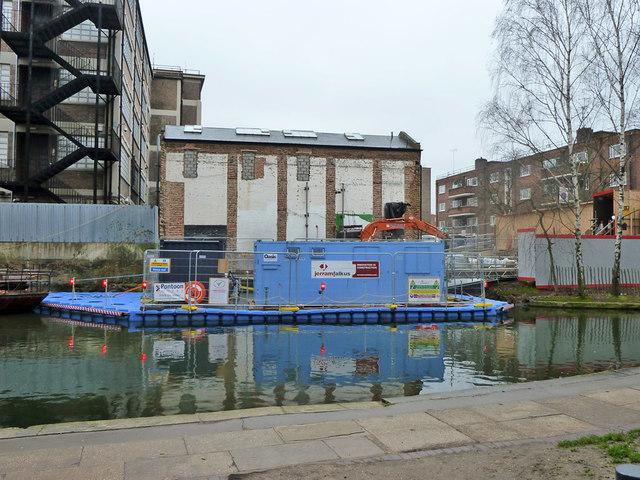 Building site by Whitmore Bridge, Regent's Canal