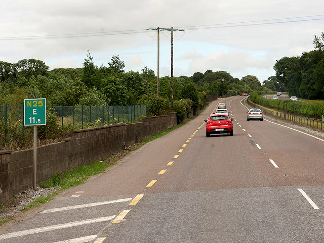 Telegraph Wires crossing the N25 near Midleton