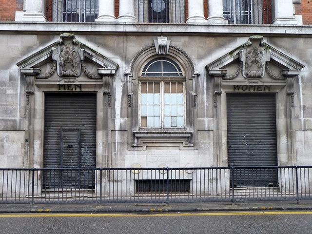 Public entrances, Haggerston Baths