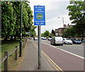 TQ1568 : To avoid low emission ZONE turn right 100 yds, East Molesey by Jaggery