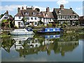 SO8832 : Cottages reflected in Tewkesbury's Mill Avon by Philip Halling