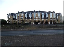 TQ7555 : Flats on the River Medway, Maidstone by David Howard
