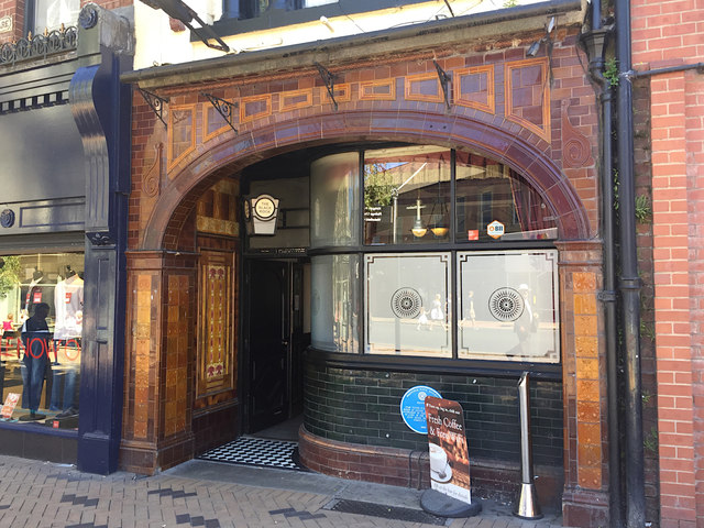 Tiled frontage of the Black Rock pub, 19 Cross Square, Wakefield