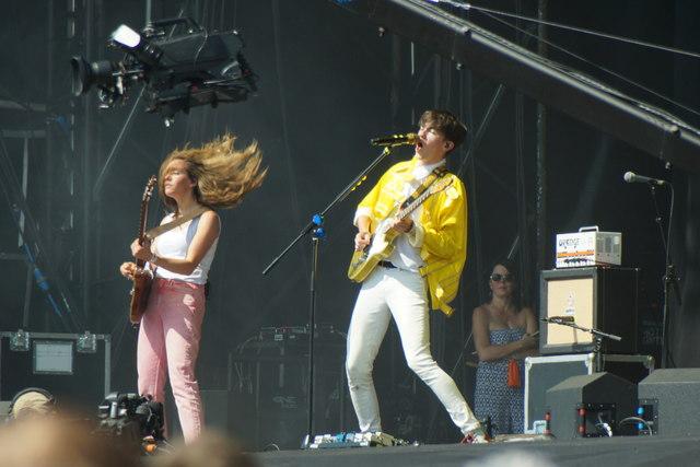 Declan McKenna on stage at TRNSMT, Glasgow Green