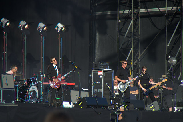 Interpol on stage at TRNSMT, Glasgow Green