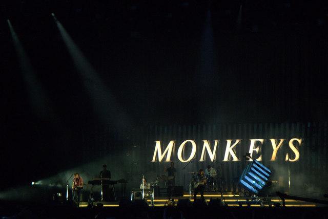Arctic Monkeys on stage at TRNSMT, Glasgow Green